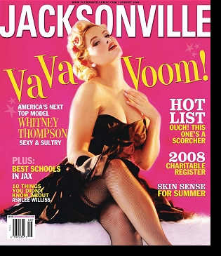 Whitney on the cover of ''Jacksonville'' magazine, August 2008