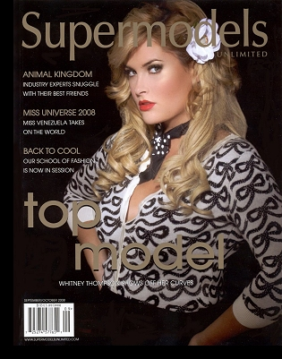 On the cover of ''Supermodels Unlimited'' magazine, Sept/Oct 2008 issue; click to enlarge